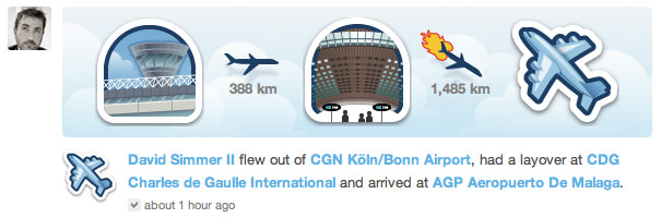 Gowalla Flight Graphic