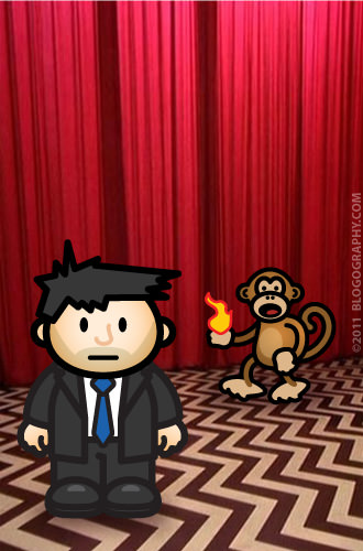 DAVETOON: Lil' Dave Cooper and Bad Monkey MIKE in the Black Lodge