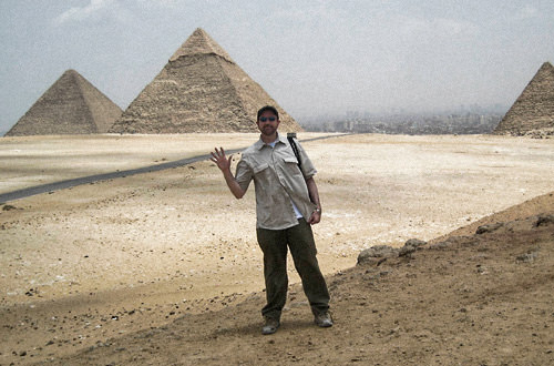 Dave2 at The Pyramids of Egypt