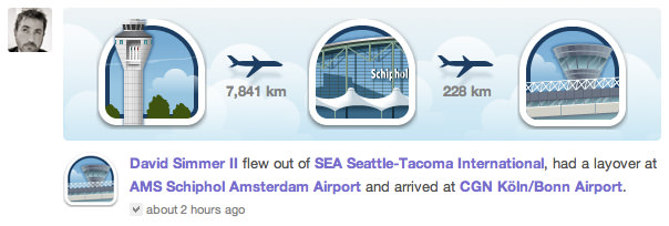 Gowalla Flights Update