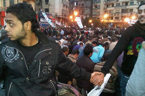 Human Shield in Egypt copyright Nevine Zaki
