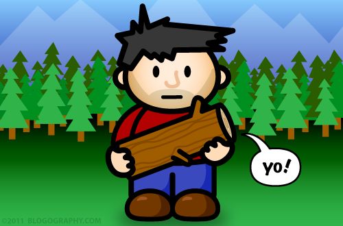 DAVETOON: Lil' Dave's log does not judge!