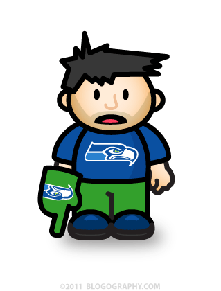DAVETOON: Lil' Dave Disappointed Seahawk Fan