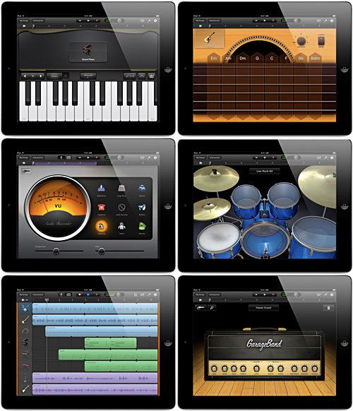 Garage Band App Screens