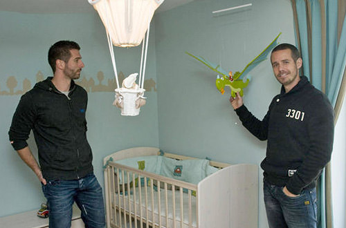 Peter Meurrens and Laurent Ghilain's waiting in their nursery.