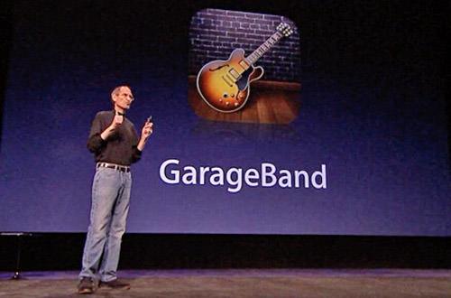 Steve Jobs Introduces Garage Band for iPad!