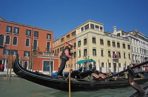 Gondolier Manouverings