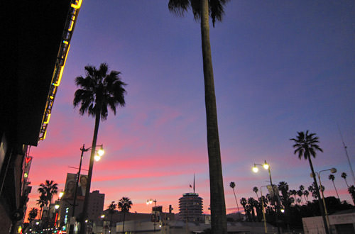 L.A. Sunset on Hollywood Boulevard