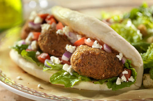Perfect Falafel Sandwich