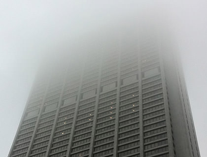 Foggy Chicago Day