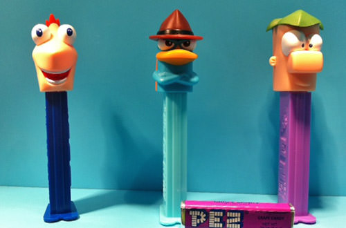 Phineas and Ferb PEZ