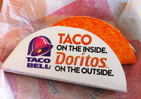 Headline Taco Bell Taco with Doritos Shell 2011