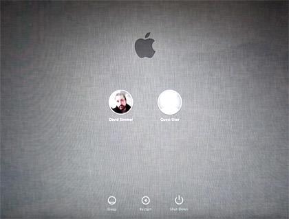 MacOS X Lion Login Screen