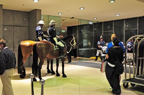 Horses in the Hotel Lobby!