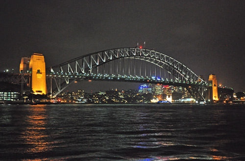 Sydney Harbour Night View Bridge