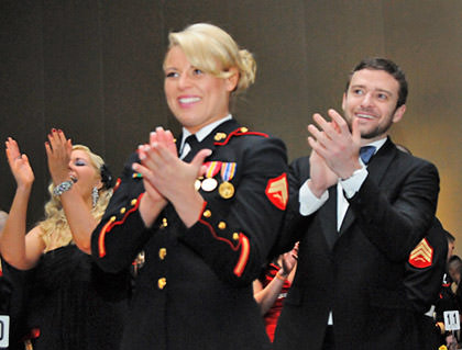 Timberlake at the Marine Corps Ball