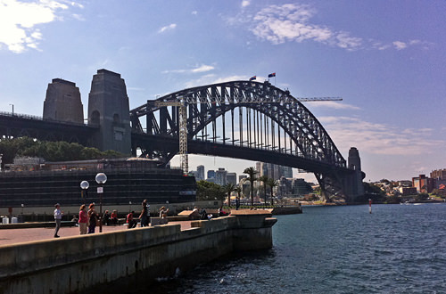 Sydney Harbour Bridge via iPhone