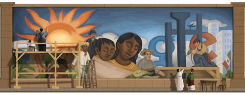 Diego Rivera Google Doodle