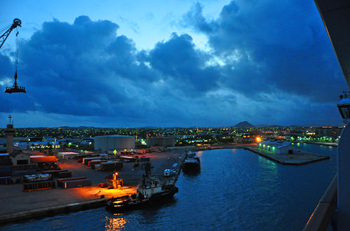 Arriving in Oranjestad, Aruba