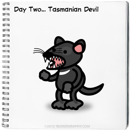 Drawing Challenge Day Two: Tasmanian Devil