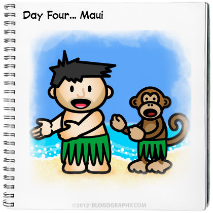 Lil' Dave and Bad Monkey in Maui Doing the Hula