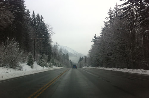 Driving Over Stevens Pass
