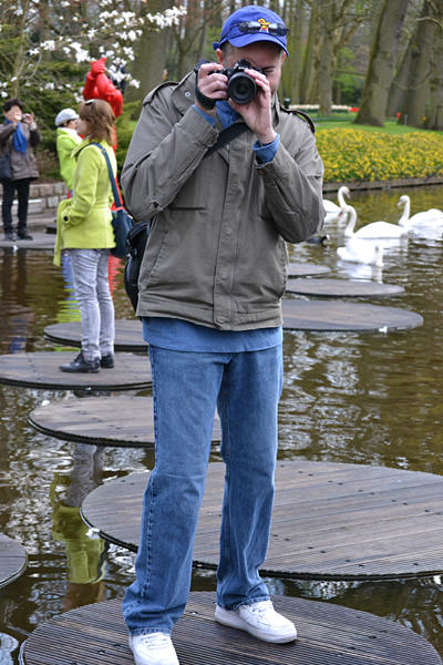 Dave Floating at the Keukenhof!