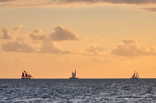 Ships Sailing in a Key West Sunset