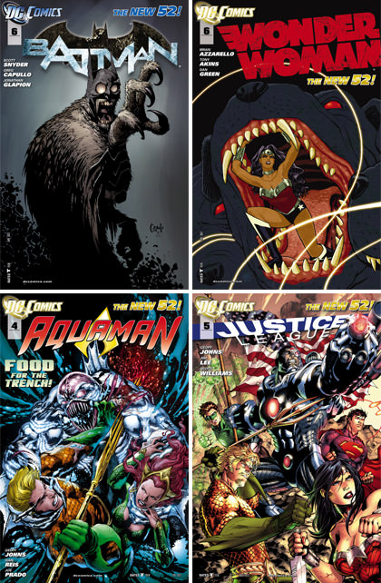 The New 52 Comic Book Covers