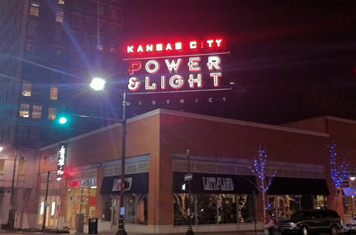 Power and Light District Sign