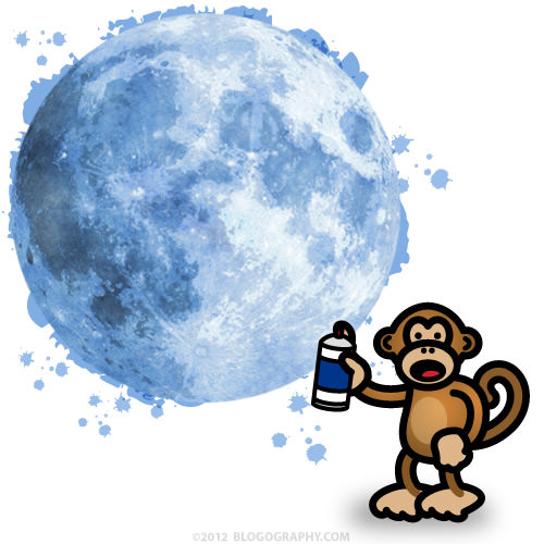 Bad Monkey Paints the Moon Blue!
