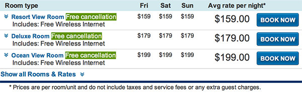 Expedia Sheraton Rate