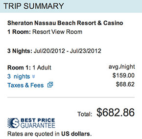Expedia Sheraton Total