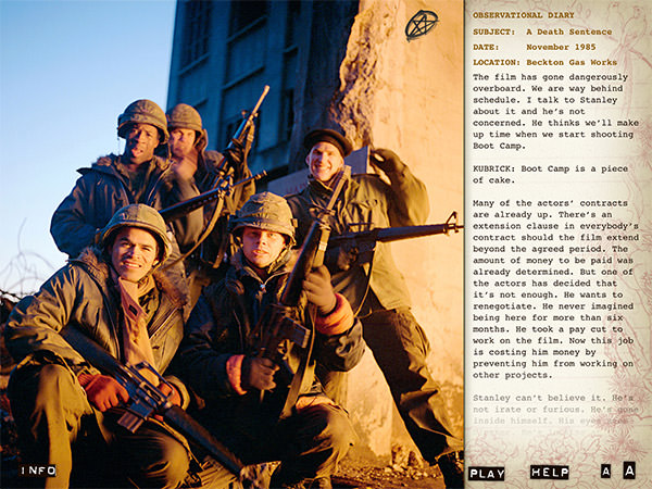 Full Metal Jacket Diary App