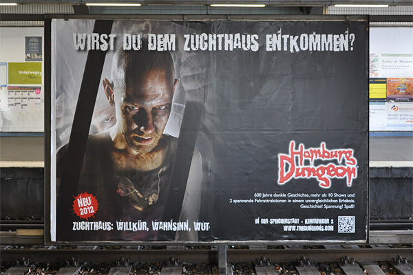 Hamburg Dungeon Poster... NO ENGLISH!