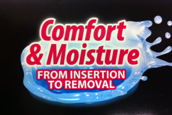Comfort & Moisture from Insertion to Removal