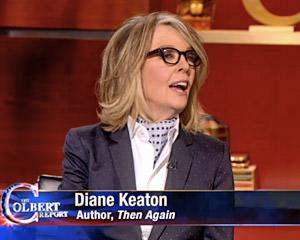 Keaton High on Colbert?