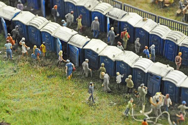 Miniatur Wunderland Porta-Potties!