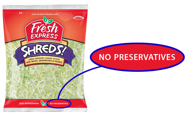 Lettuce Shreds: No Preservatives