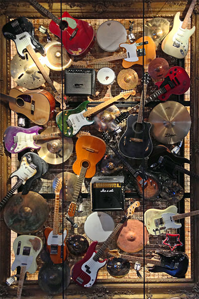 Hard Rock Brussels Instrument Collage