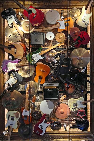 Hard Rock Brussels Instrument Collage