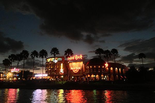Hard Rock Cafe Orlando at Night