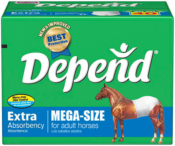 MEGA-SIZE Depend Undergarments for HORSES!
