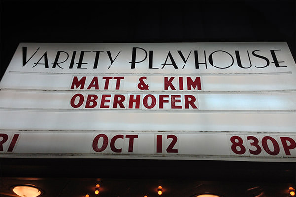 Matt & Kim at the Variety Playhouse