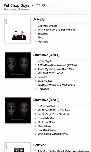 Pet Shop Boys iTunes