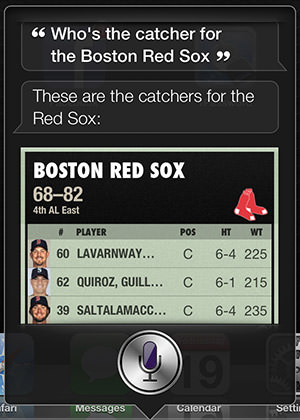 Siri red Sox Catcher