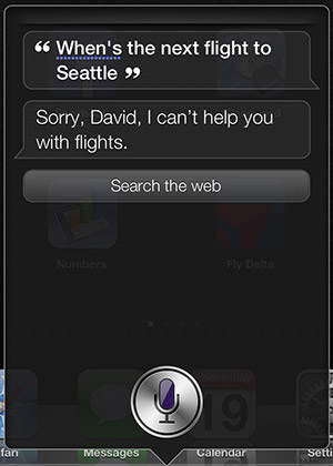 Siri Doesn't Know Flights