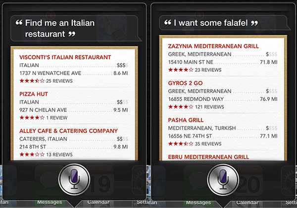 Siri on Restaurants