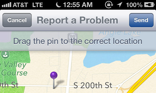 Apple Maps Fixing Bad Location