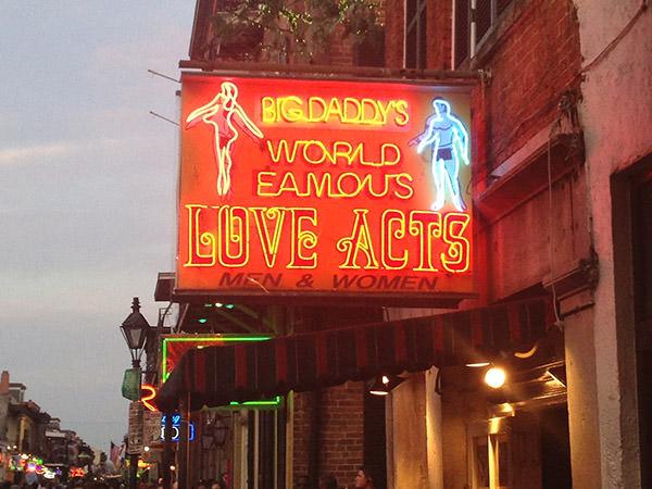 Bourbon Street Famous Love Acts
